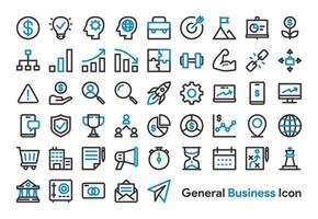 Affaires générales et finances Icon Set vecteur