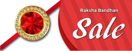 Bonne bannière de vente de Raksha Bandhan vecteur