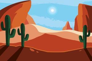 scène de paysage désertique vecteur