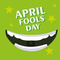 affiche de sourire de jour de poissons d'avril