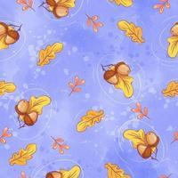 Modèle d'automne sans couture avec des glands vecteur