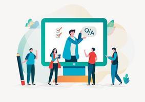 Question et réponse. Design de recherche plat. vecteur