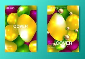 Disposition des affiches de couleurs modernes vecteur