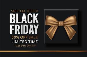 Black Friday vente étiquette noire vecteur