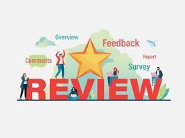 Clients donnant des commentaires à l'utilisateur vecteur