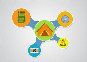 Conception infographique de camping