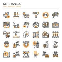 Ensemble d'icônes mécaniques monotone fine ligne vecteur