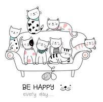 Bébés chats sur le canapé