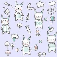 dessin animé mignon bébé lapin - modèle sans couture