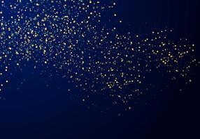 Lumières de paillettes d'or tombant des particules abstraites vecteur