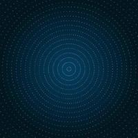 Cercle abstrait points doré paillettes vecteur