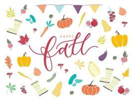 Affiche de joyeux automne
