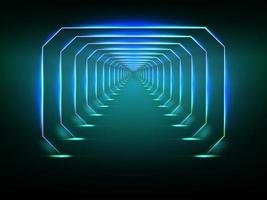 Tunnel futuriste sans fin vecteur
