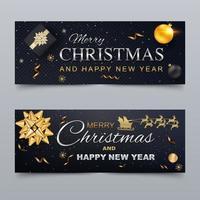 Joyeux Noël et bonne année Couverture pour les réseaux sociaux vecteur