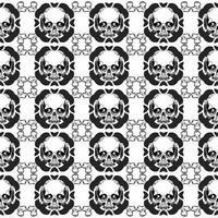 Modèle vectoriel avec des crânes