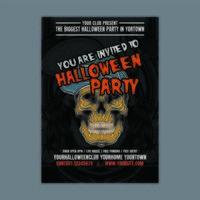 Affiche verticale de fête d'Halloween vecteur