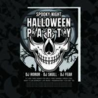Prospectus d'invitation de fête de Halloween de crâne
