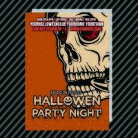Dépliant du club d'invitation à la fête d'Halloween vecteur