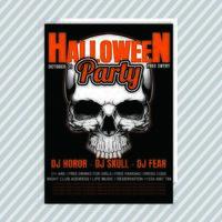Flyer d'invitation à la fête d'Halloween vecteur