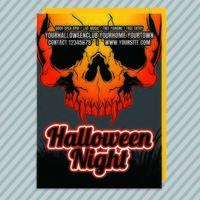 Feu Flyer Invitation à la fête d'Halloween vecteur