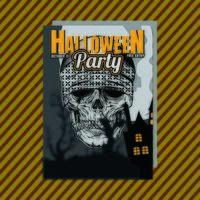 Flyer d'invitation à la fête d'Halloween. Vecteur éditable