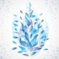 Feuilles bleues abstrait vecteur