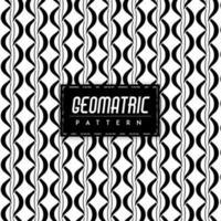 Fond noir et blanc géométrique sans soudure vecteur