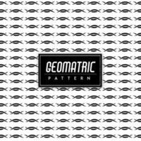 Fond géométrique noir et blanc vecteur