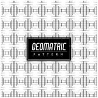 Motif géométrique noir et blanc vecteur