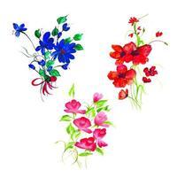 Belle composition florale aquarelle vecteur