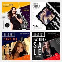 Graphiques de vente de mode