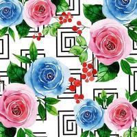 Fond floral géométrique vecteur