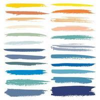 Ensemble de jeux de coups de pinceau de couleur d'automne vecteur