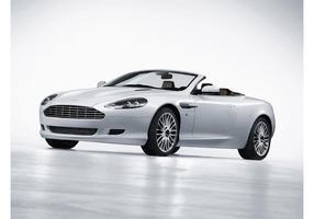 Aston Martin DB9 Volante blanche vecteur
