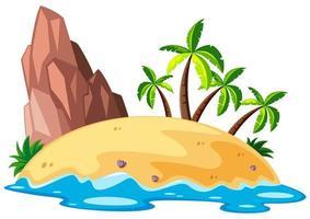 Scène avec île à la mer vecteur
