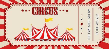Un modèle de billet de cirque rouge vecteur