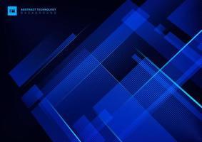Concept technologique abstrait bleu géométrique