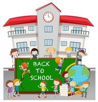 Retour à l'école avec les élèves à l'école