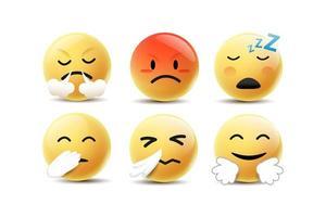 emoji se sentant visages