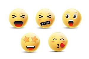 emoji se sentant visages vecteur
