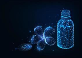 Design futuriste avec des huiles de fleurs et essentielles