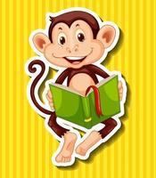 Petit livre de contes de lecture de singe