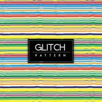 Glitch coloré sans soudure de fond vecteur