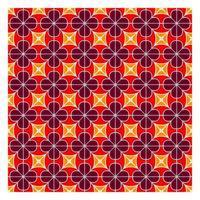 Modèle sans couture géométrique rouge vecteur
