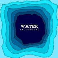 Nature Water Background avec effet de papier découpé vecteur