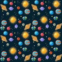 Modèle sans couture de planètes vecteur
