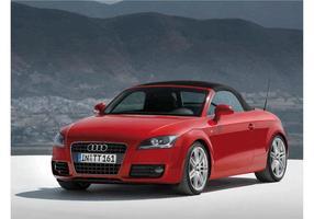 Audi tt cabrio rouge vecteur