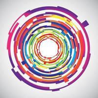 Fond de cercles colorés de technologie abstraite vecteur