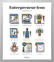 Pack Entrepreneur Icônes LineColor
