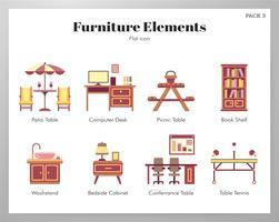 Éléments de meubles pack plat